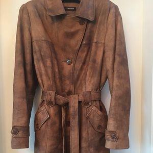 Daniel Leather Trench Coat